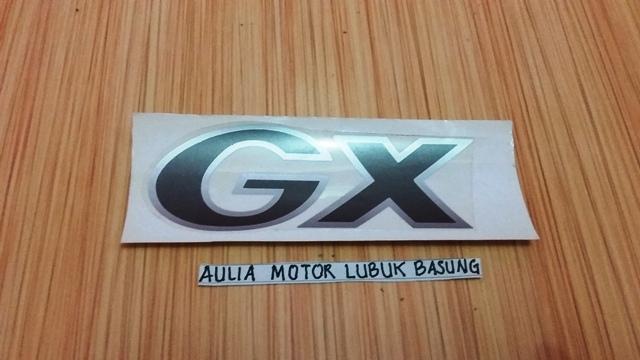 sticker merek gx mobil suzuki katana (1 buah)