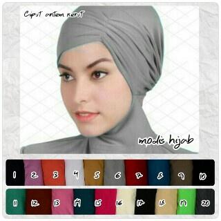 Dalaman jilbab Ciput Antem Kerut Risty inner hijab kode 3c00-204