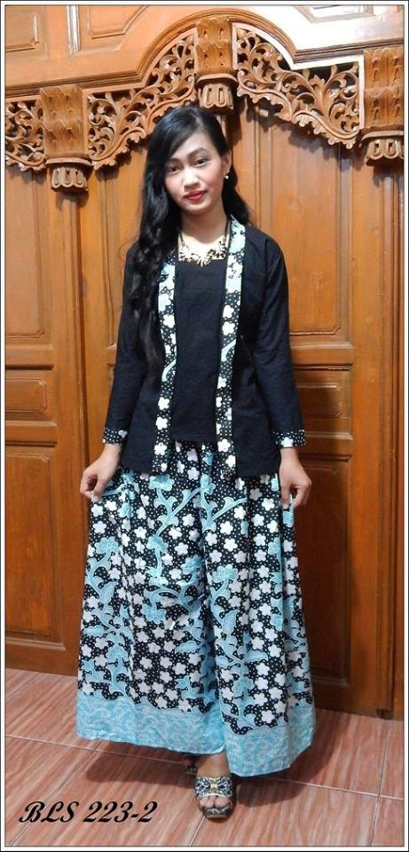 Harga Gamis Batik Abaya Maxi Dress Baju Muslimah Bls223