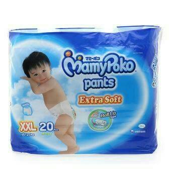 harga MamyPoko Extra Soft XXL 20 Boys XXL20 / Mamy Poko Girls XXL 20 Tokopedia.com