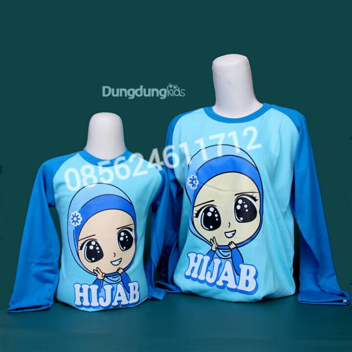 Kaos Hijab Couple Family