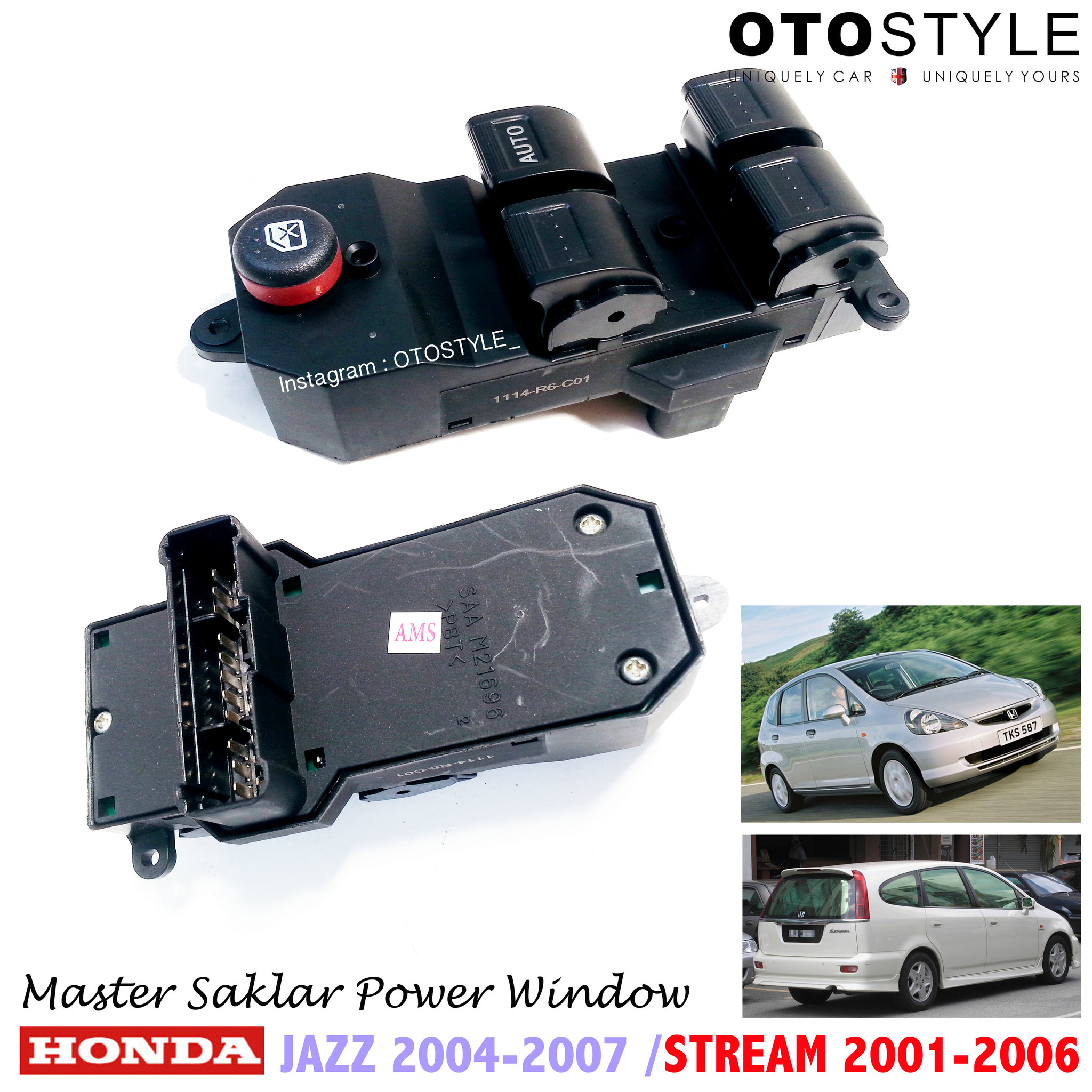 Master Saklar Jendela Power window HONDA Jazz & Stream PREMIUM