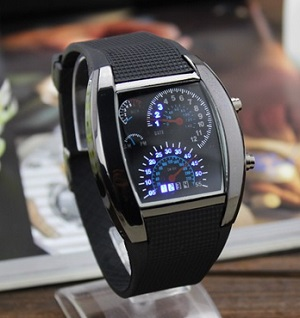 Speedometer LED watch Jam Tangan TVG Speedo Meter