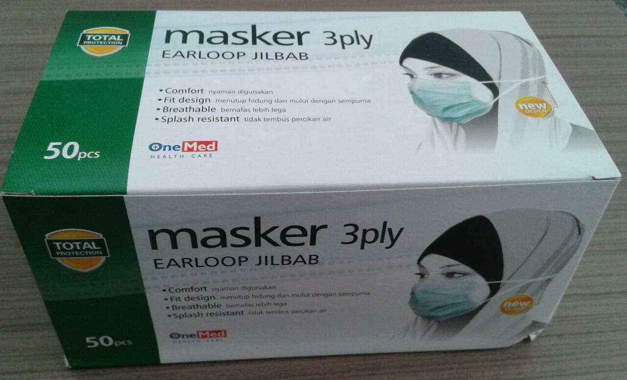 Onemed Masker Karet Earloop 3 Ply Green Daftar Update Harga Source Jual Masker 3 Ply