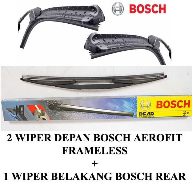 WIPER BOSCH AEROFIT JAZZ GE 3Pcs (kn-kr dan belakang)