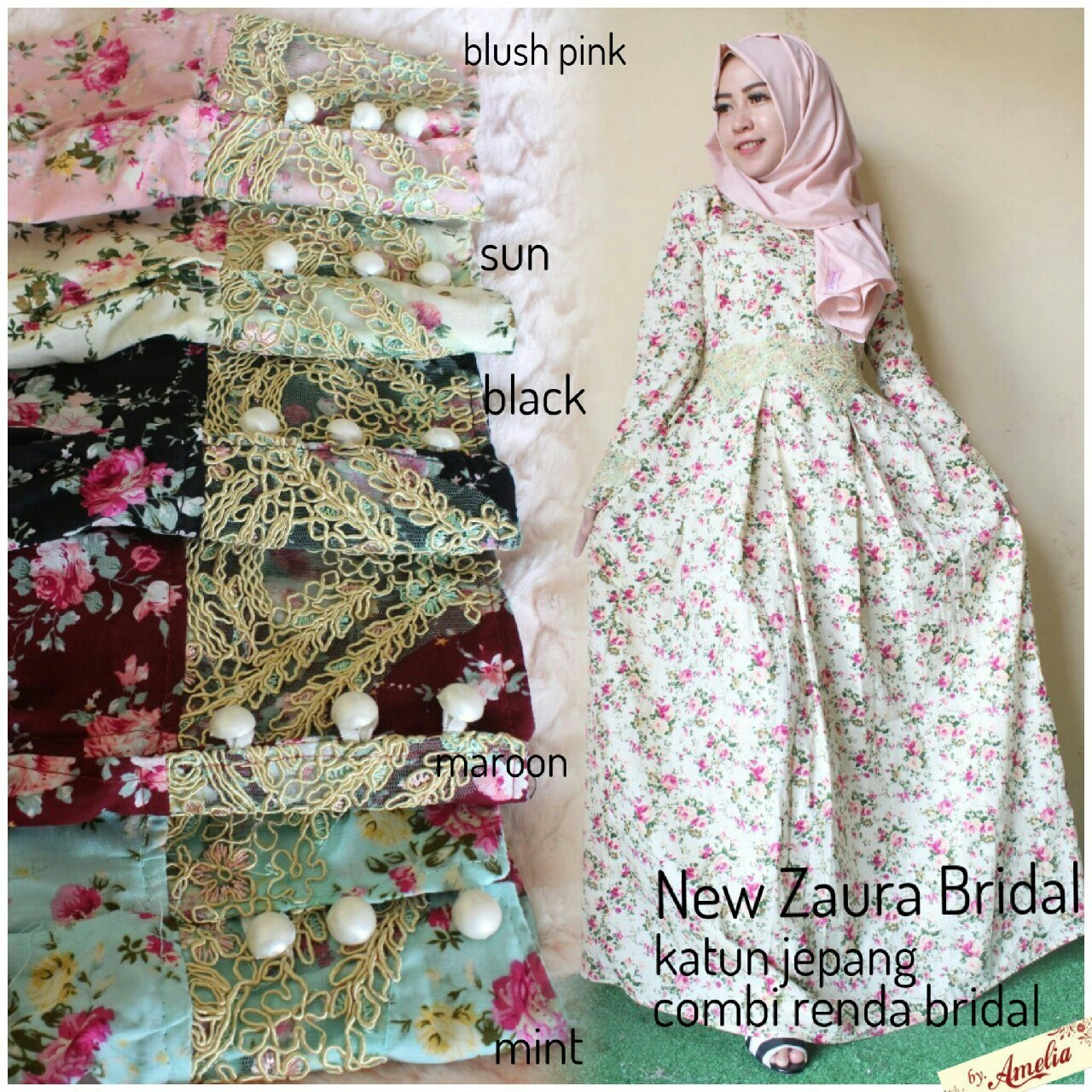 SUPPLIER HIJAB ORI : new zaura bridal ori amelia