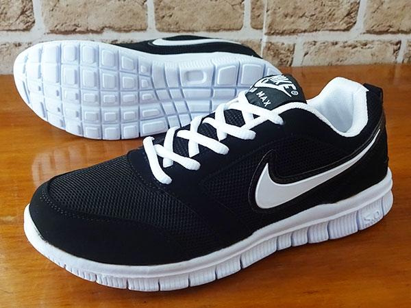 Jual Sepatu Running Olahraga Senam Gym Lari Nike Free Run V4 Hitam Putih -  jambrin s shop 1  a80bc24a62