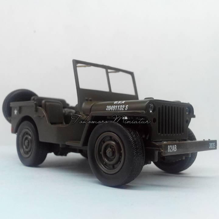 Jual Diecast Miniatur Mobil Militer Tentara Perang Warna