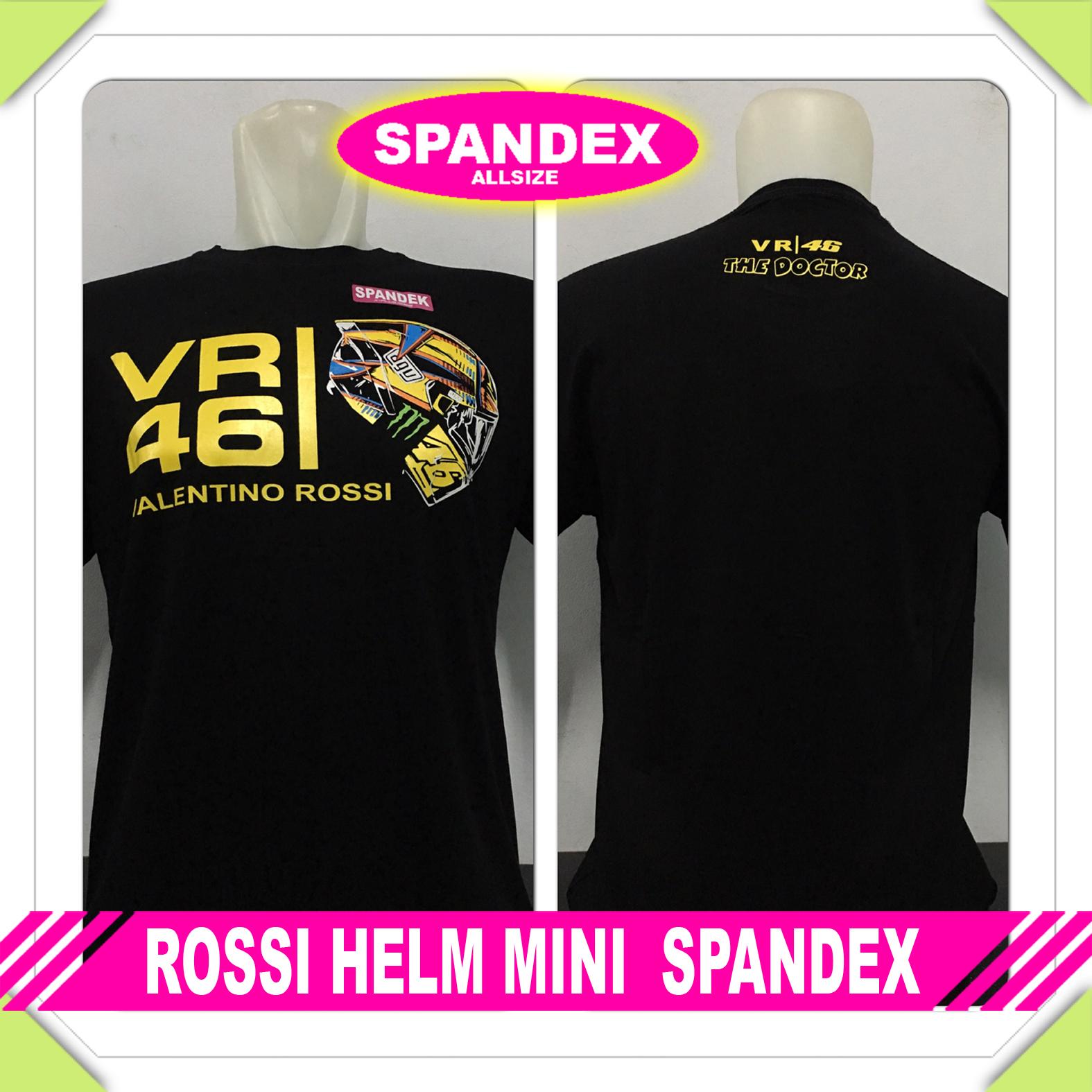 Kaos Cowok Moto GP Rossi Helm Mini Spandek
