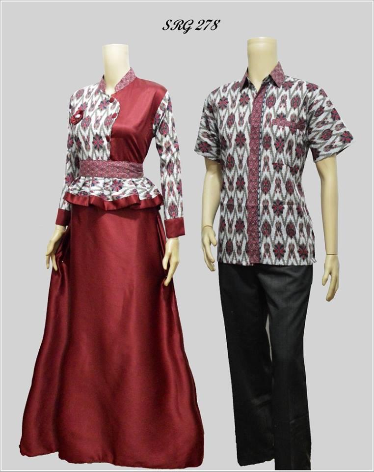 Harga Baju Couple Batik Sarimbit Gamis Sepasang Pasangan Seragam ...