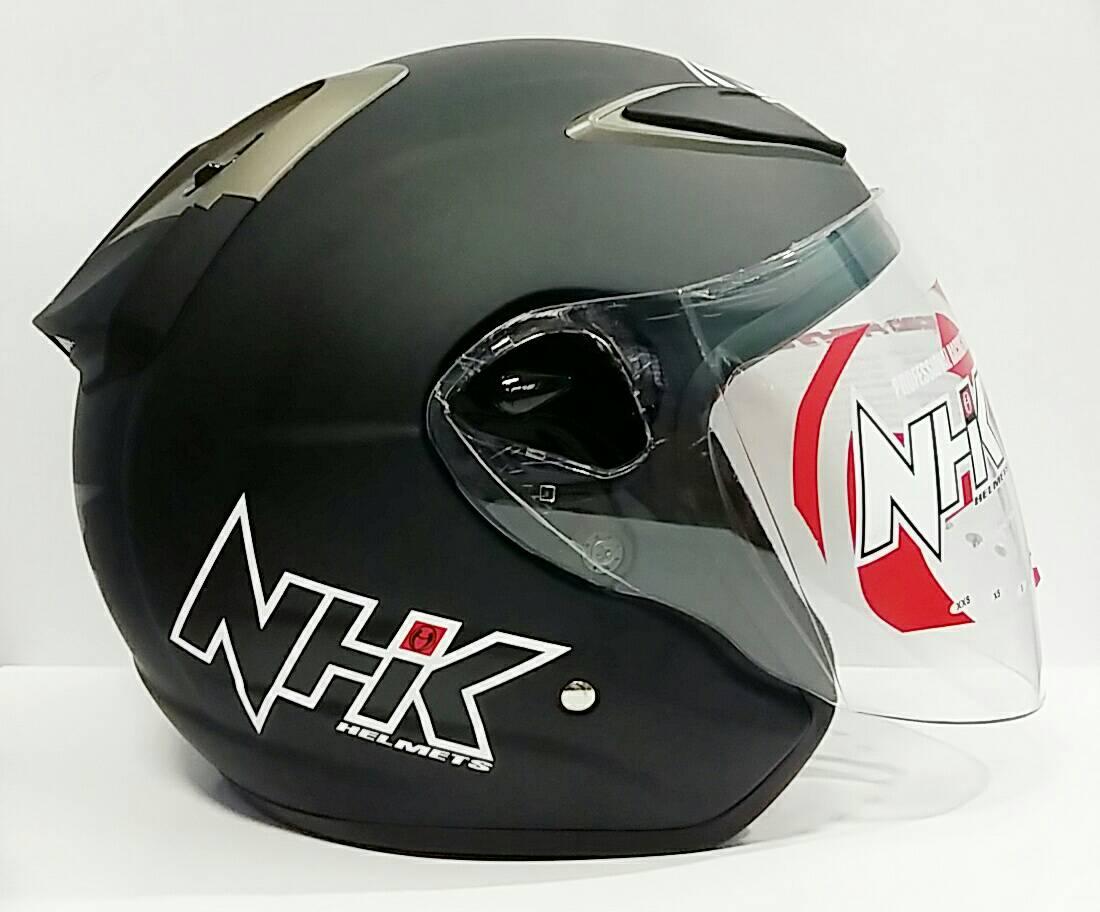 Jual NHK R6 BLACK DOFF VISOR HITAM