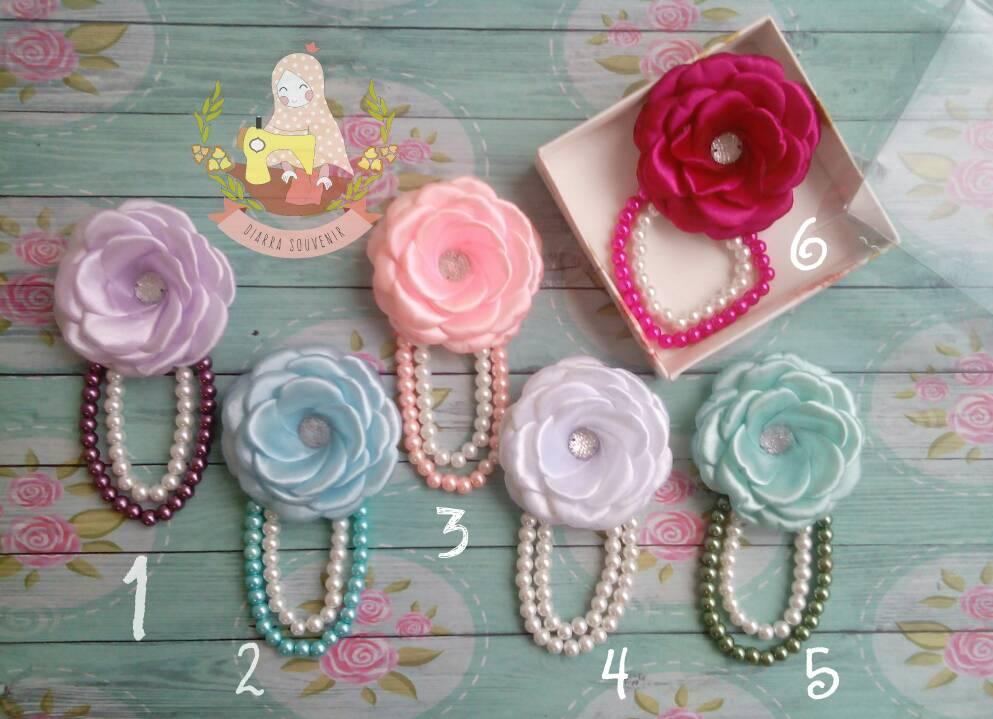 Bros murah/Bross gardenia/aksesoris hijab/bros jilbab/souvenir
