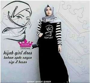 Hijab girls maxi/ dress/ gaun/ gamis/ busana muslim/ girl
