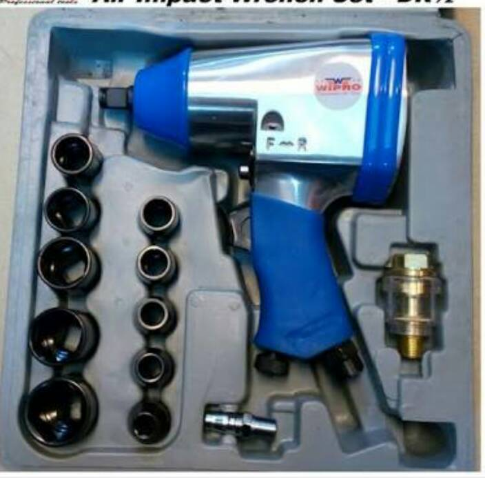 AIR IMPACT WRENCH KIT SET 1/2""