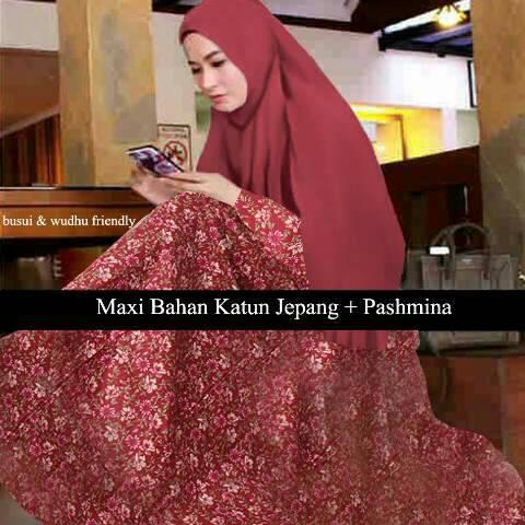 Hijab fathin marun ( Maxi + bergo )