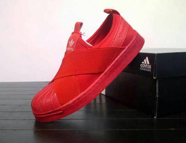 adidas Originals SS Slip On W (Adidas originals superstar slip ons W) RED NIGHTRED NIGHTRUNNING WHITE 18FW I