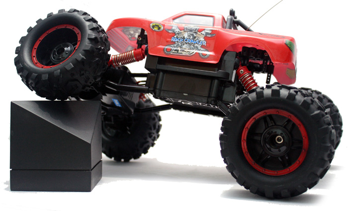 R/C OFF ROAD ROCK CRAWLER TRUK PICKUP 4WD 1:12 Merah