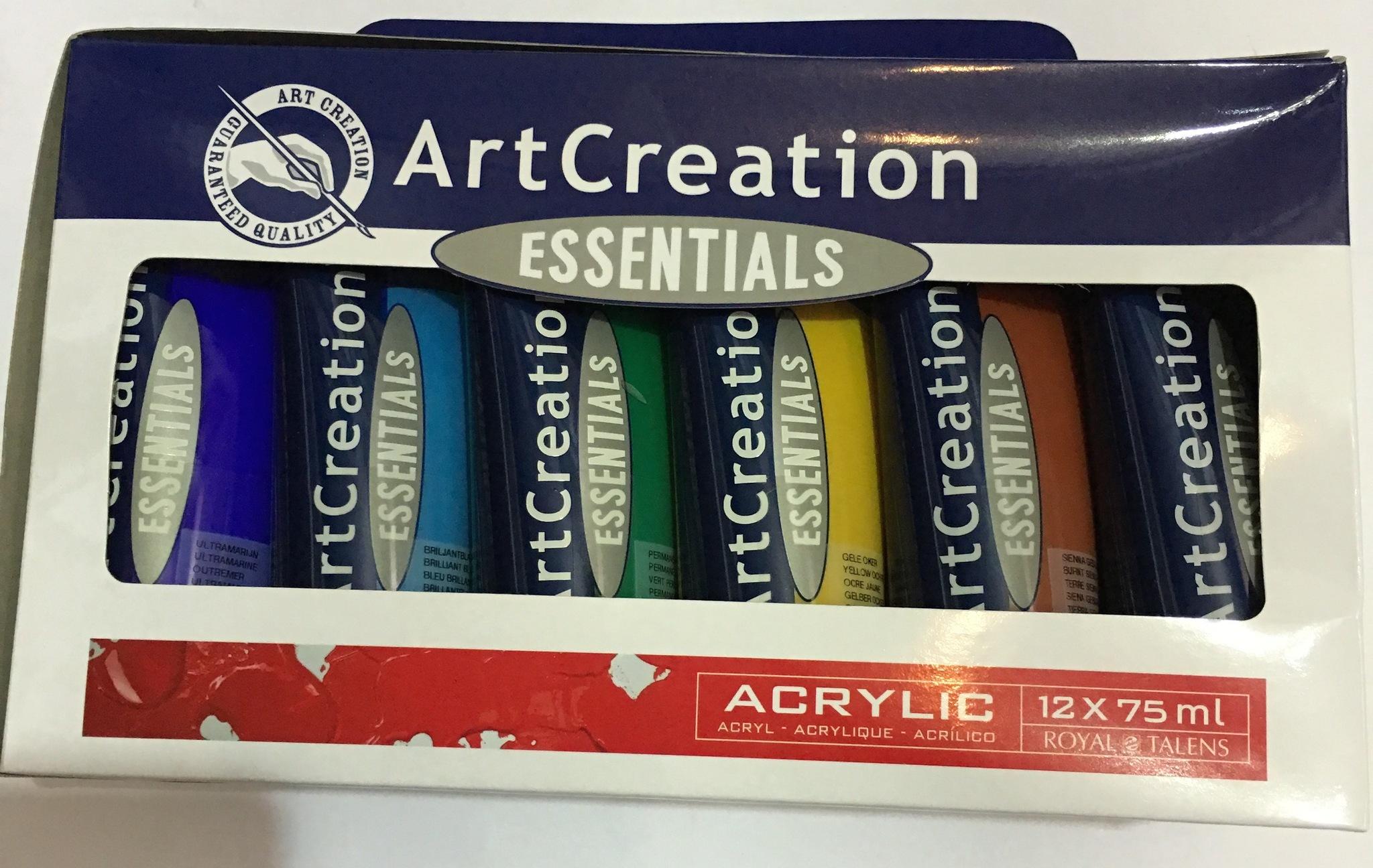 TALENS ART CREATION ACRYLIC COLOUR SET 12 x TUBE 75 ML