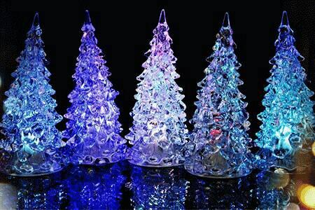 lampu pohon natal acrylic buat kado natal