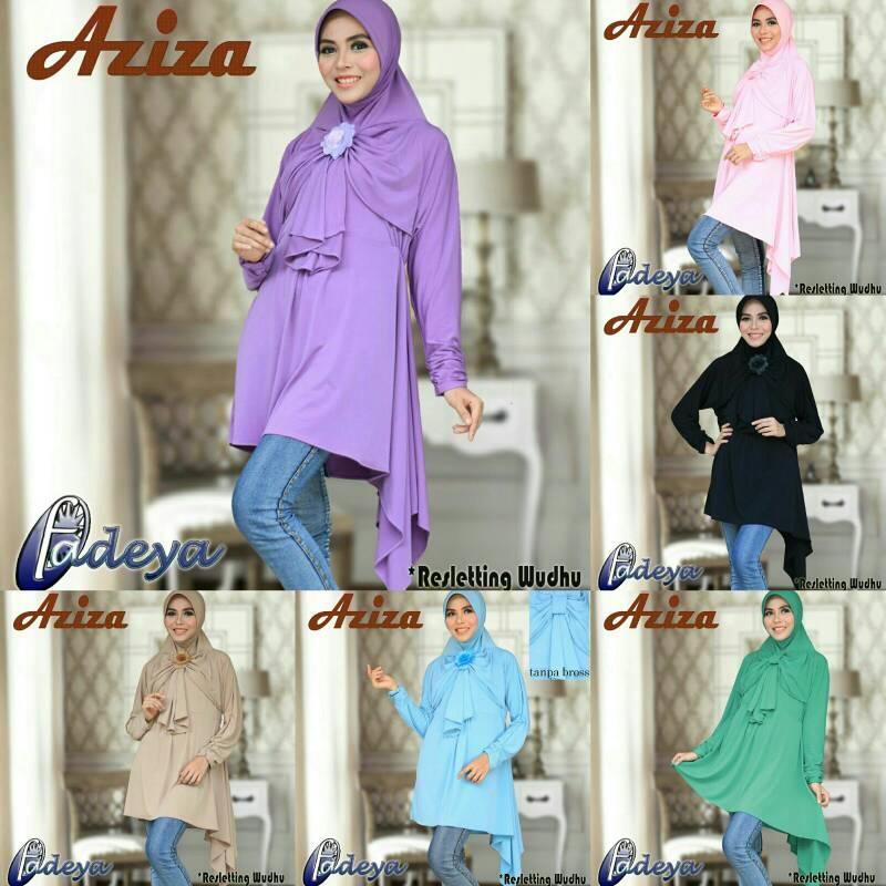 hijab lengan tunik aziza ori by fadeya