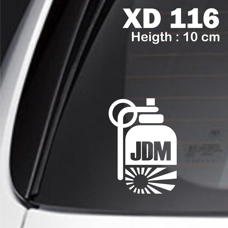 sticker mobil jdm grenade racing otomotif brio juke ayla jazz XD-116
