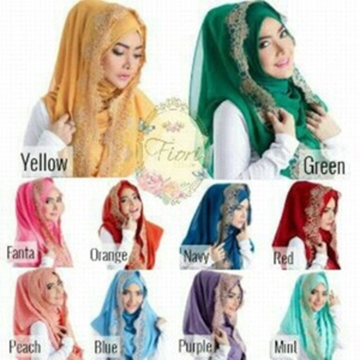 Hijab/Jilbab Hoodie Instant Fiori