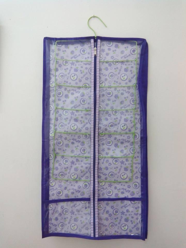 Hanger Jilbab Organizer / Gantungan Hijab Saku kantong Warna ungu