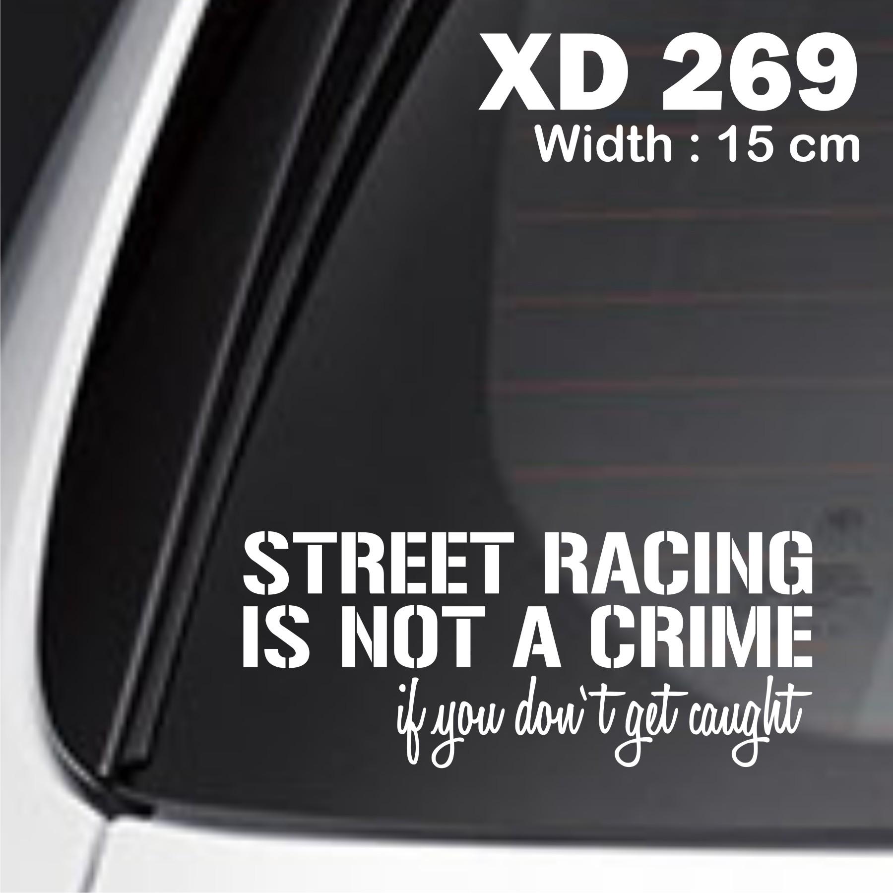 sticker mobil jdm street racing otomotif rush avanza jazz brio XD-269