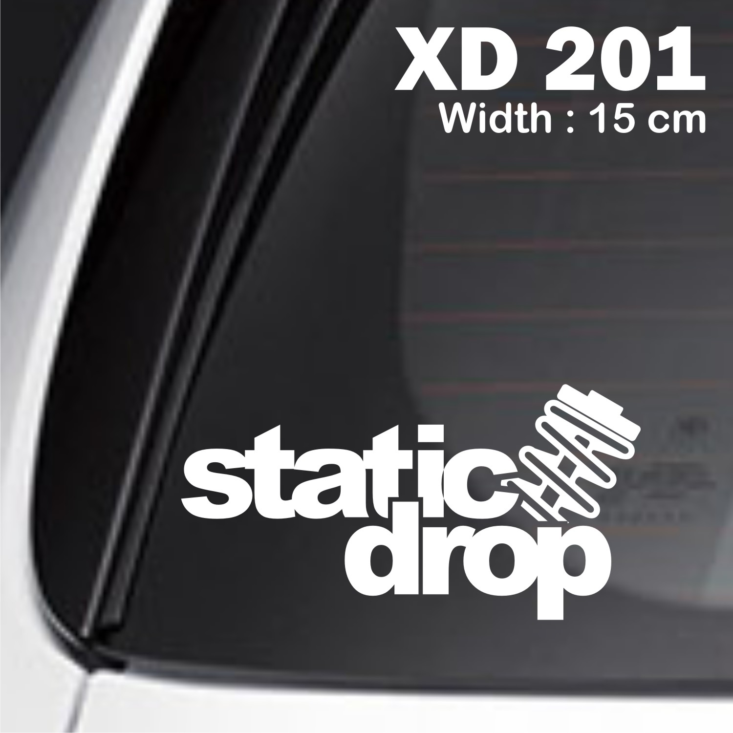 sticker mobil jdm static drop racing otomotif freed jazz ertiga XD-201