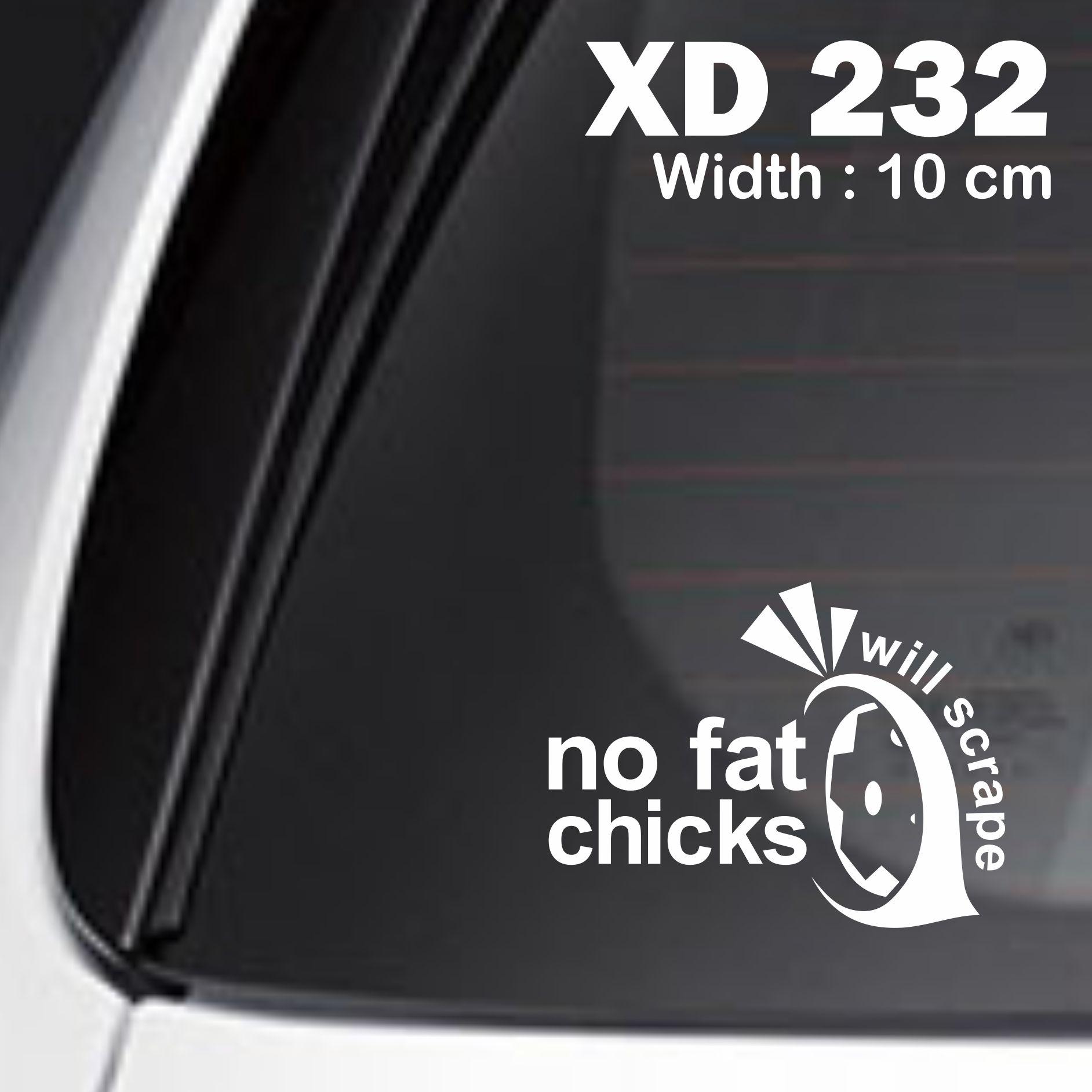 sticker mobil jdm no fat chicks otomotif jazz freed terrios crv XD-232
