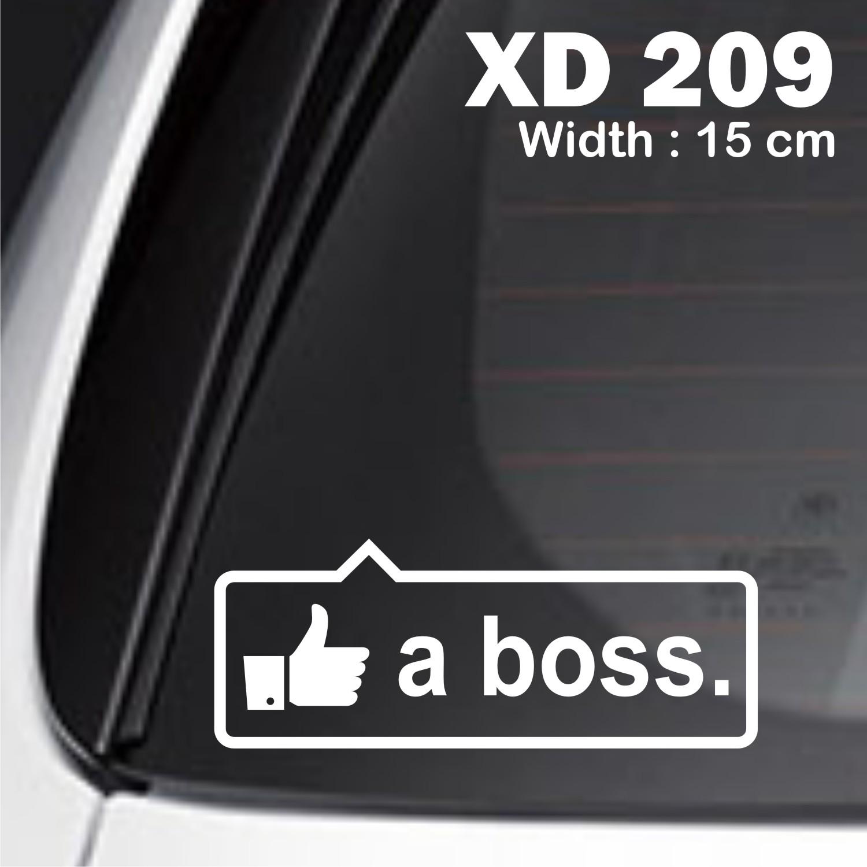 sticker mobil jdm like a boss otomotif karimun jazz livina XD-209