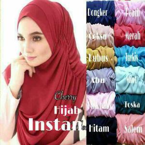 Jilbab Instan Cherry / Jilbab Chery / Hijab Instan Cherri / Cery