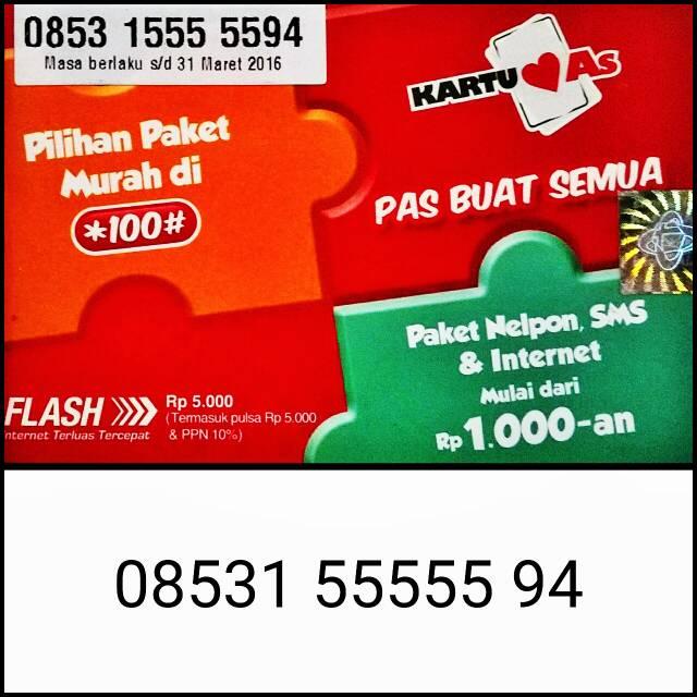 harga Kartu As 08531.55555.94 | Nomor Cantik Telkomsel Kartu As Panca .