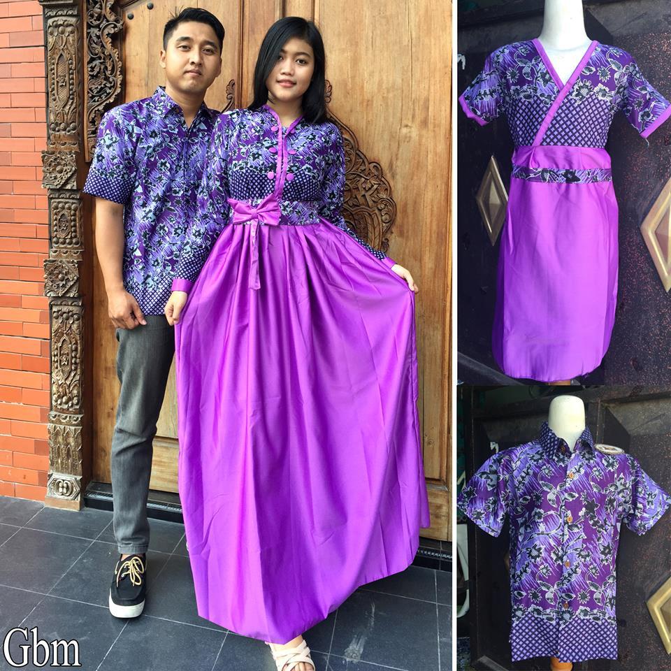100 Gambar Gamis Batik Sarimbit Remaja Dengan Batik