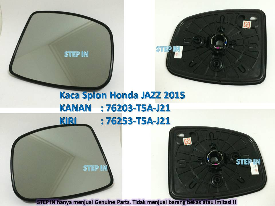 KACA SPION Kanan/Kiri Honda JAZZ 2015 Genuine Part Original Baru asli