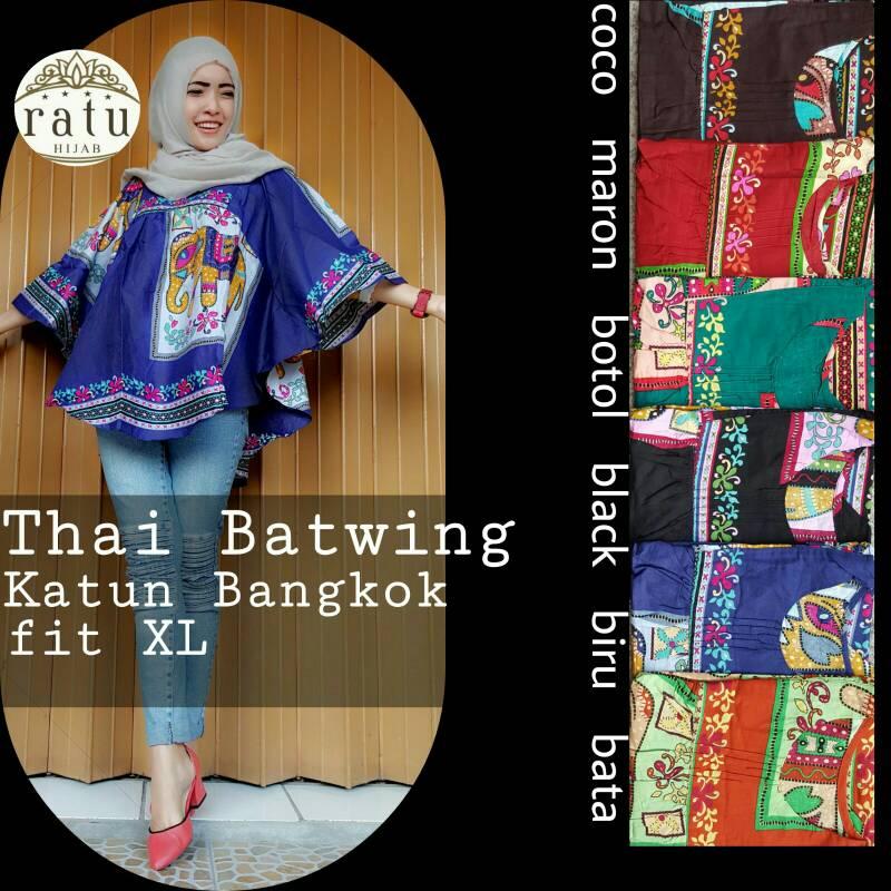 thai batwing ori ratu / blouse batwing / supplier baju hijab
