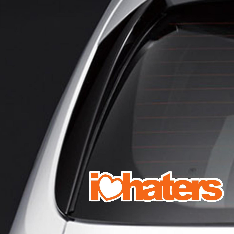 Sticker Mobil i love haters sportivo jazz corolla ertiga DSTP-140