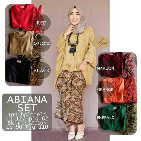 abiana aet / setelan baju batik / supplier baju hijab
