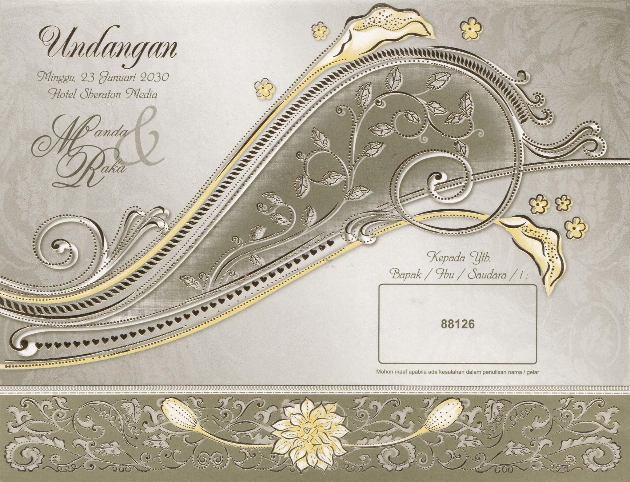 Jual Cetak Undangan Pernikahan Erba 88126 Kreatif Digital