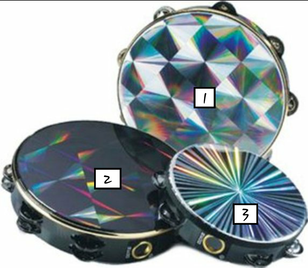 harga TAMBOURINE HOLOGRAM 10 INCHES single ring Tokopedia.com