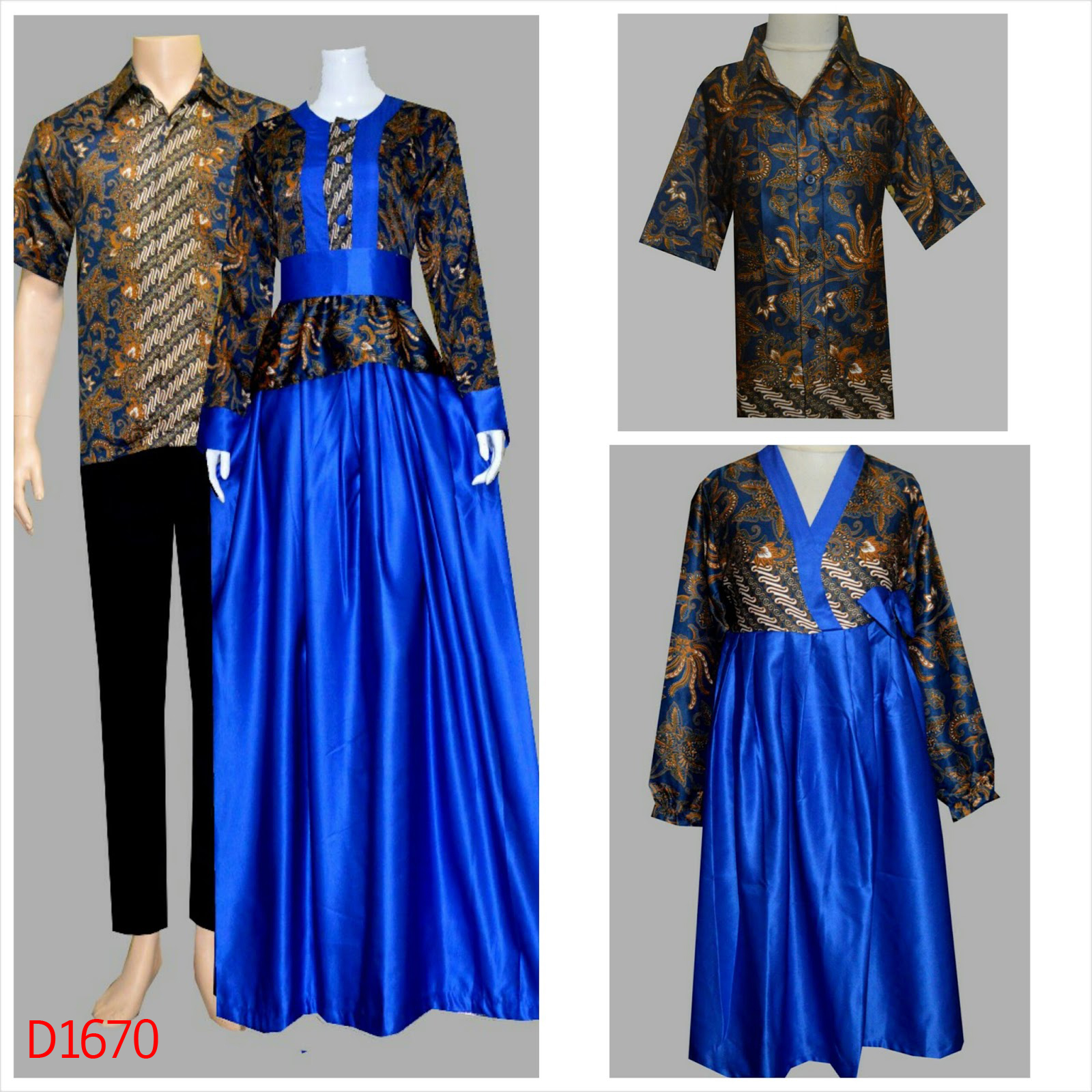 Jual Batik Keluarga Sarimbit Family Model Batik Couple