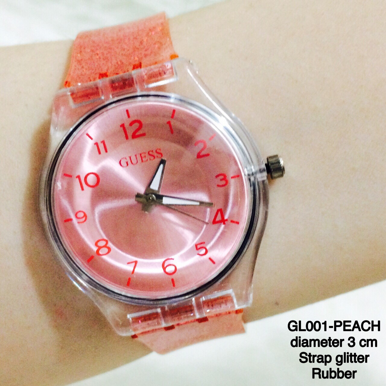 Jual Jam Tangan Wanita Guess Glitter Monol Glossy Sporty Swatch Tali Bahan Karet Watch Holic Tokopedia