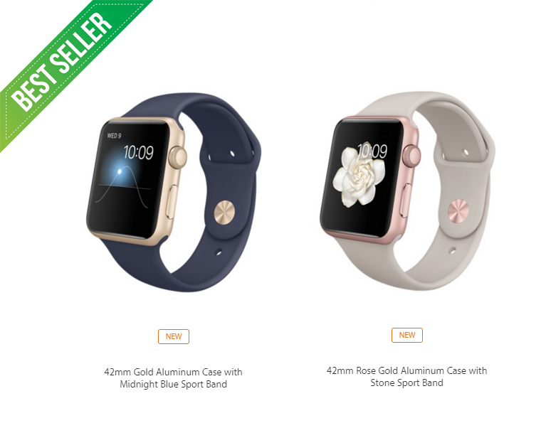 Jual Apple Watch 42mm Rose Gold Aluminium Case With Stone