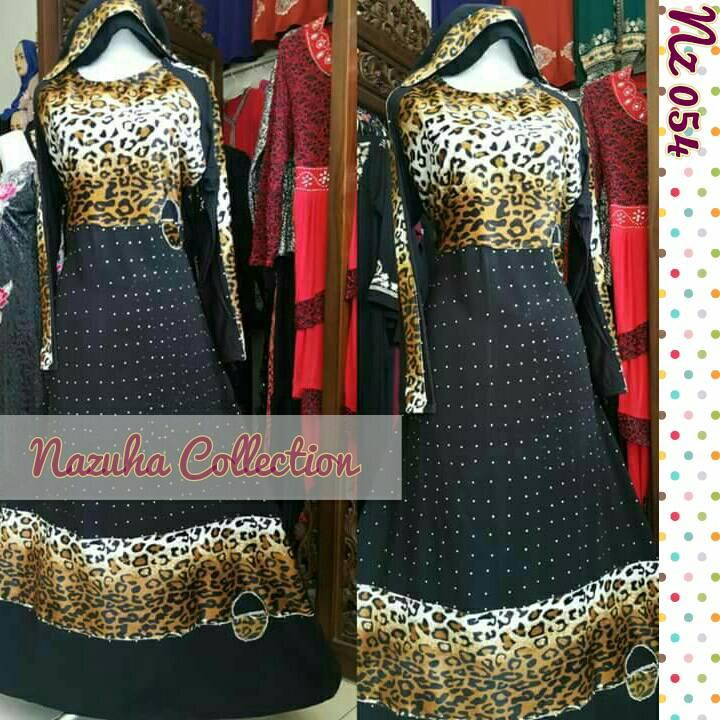Jual Leopard Gamis Baju Dress Gaun Pesta Longdress Baju