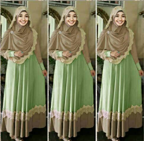 Hijab Mint / Busana muslim wanita / Gamis terbaru