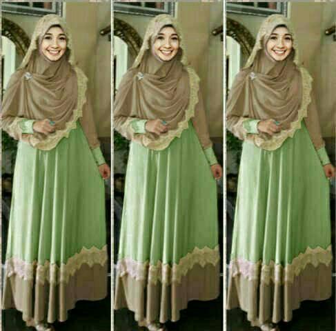 Hijab Mint / gamis bella / baju muslim wanita