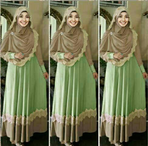 hijab mint/setelan baju muslim terbaru/busana muslim modern