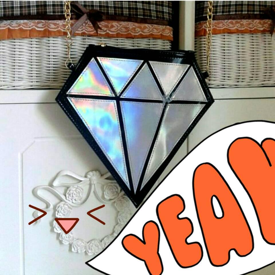 Sling bag tokopedia - Sling Bag Diamond Hologram Silver Gold