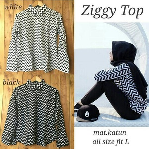 GROSIR  BAJU HIJAB : ZIGGY TOP ( ZIGZAG TOP )
