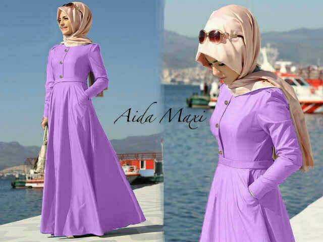Hijab aida soft ungu (maxy+pashmina)